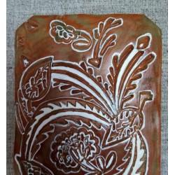 Tablou ceramic sgrafitto
