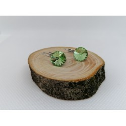 Cercei cu tortita din otel inoxidabil cu Cristal de 10 mm Made by Swarovski®