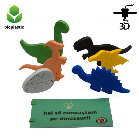 Set de 5 dinozauri, 1 ou de dinozaur, 38 de piese