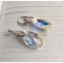 Cercei Aurora din argint 925 și cristale Swarovski