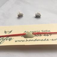 Set Lotus, cercei și brățară din argint 925 cu șnur reglabil